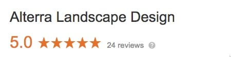 Alterra Design Google Reviews